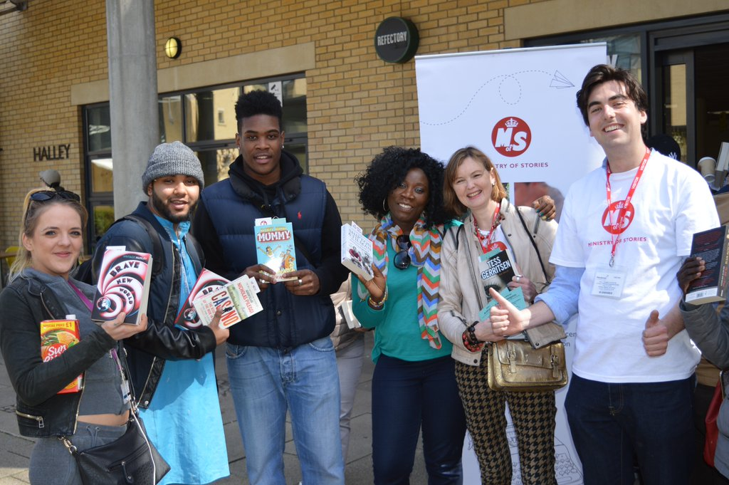 Ministry of stories and penguin random house uk give out books at hackney community college   copy