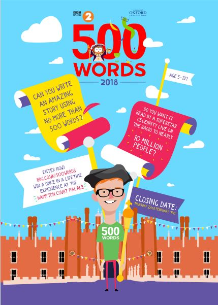 500 Words Downloadable Poster - For Entrants  Reading Agency-5741