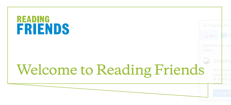 Reading Friends welcome guide for one-to-one participants