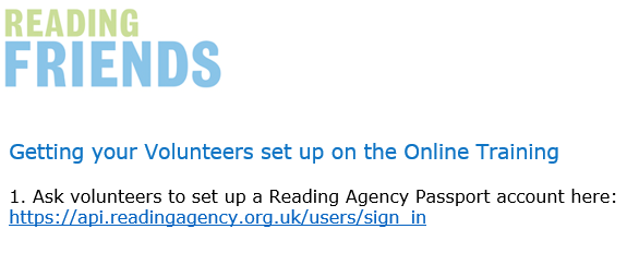 Reading Friends How to Set Up Your Volunteers on Online Training