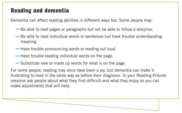 Reading Friends dementia information resource