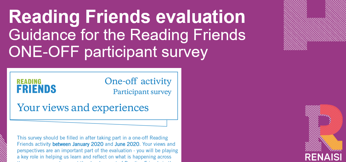 Reading Friends GUIDANCE one-off activity participant survey