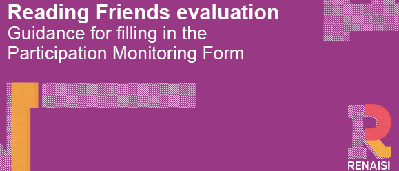 Reading Friends GUIDANCE for participant monitoring form
