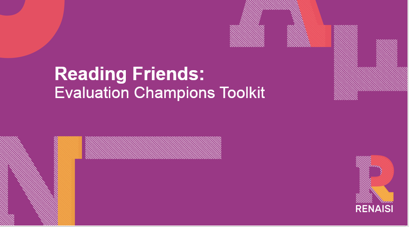 Reading Friends Evaluation Champions toolkit
