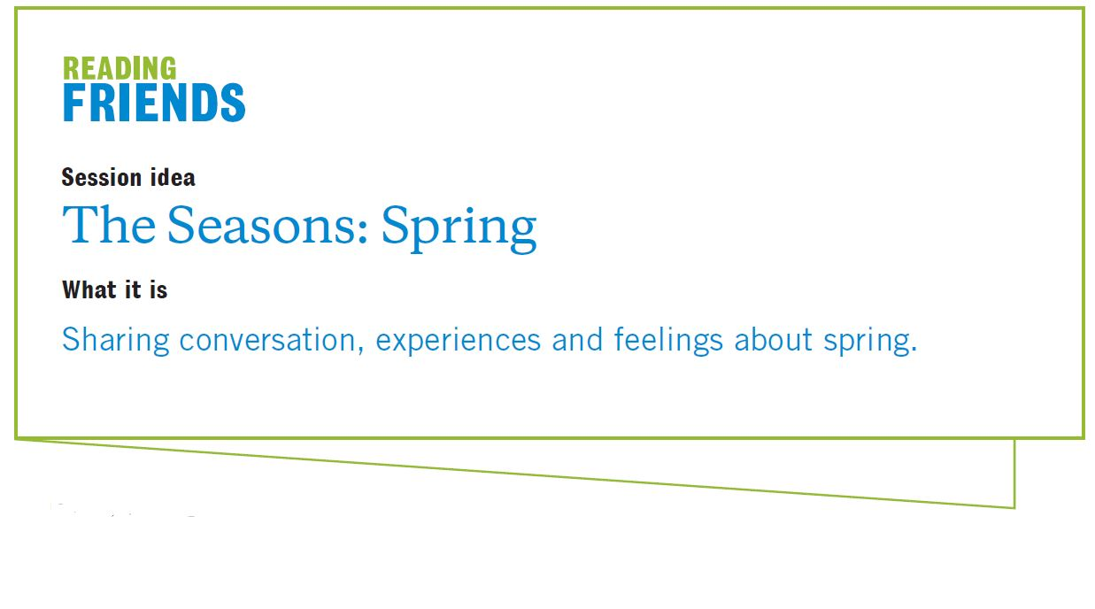 Reading Friends Spring: Session Idea