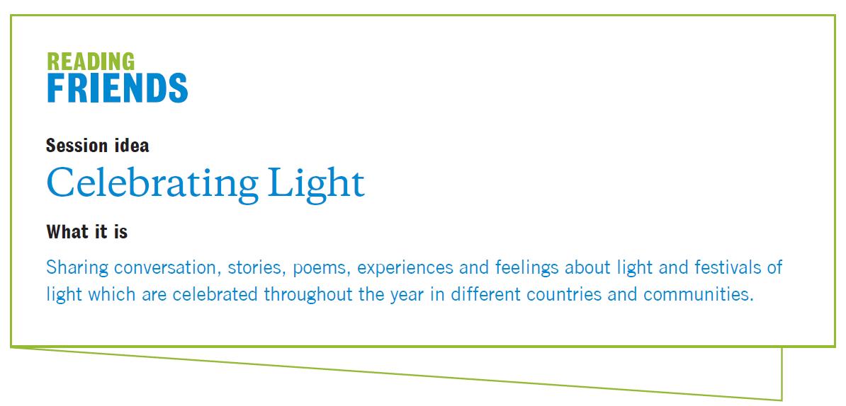 Reading Friends Celebrating Light Session Plan