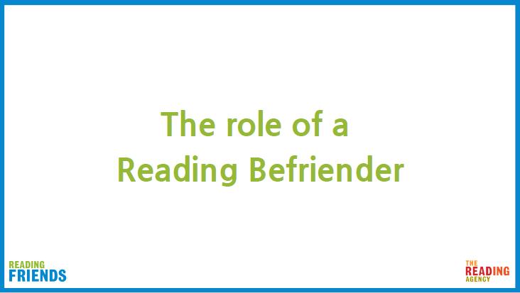 Reading Befriender training PDF of video 2