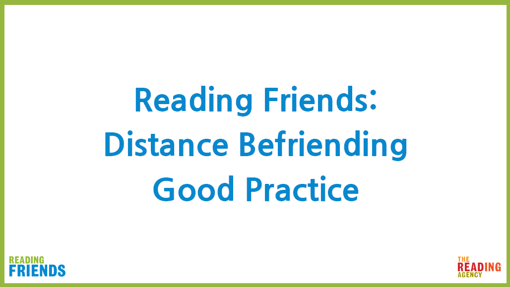 Reading Befriender training PDF of video 5