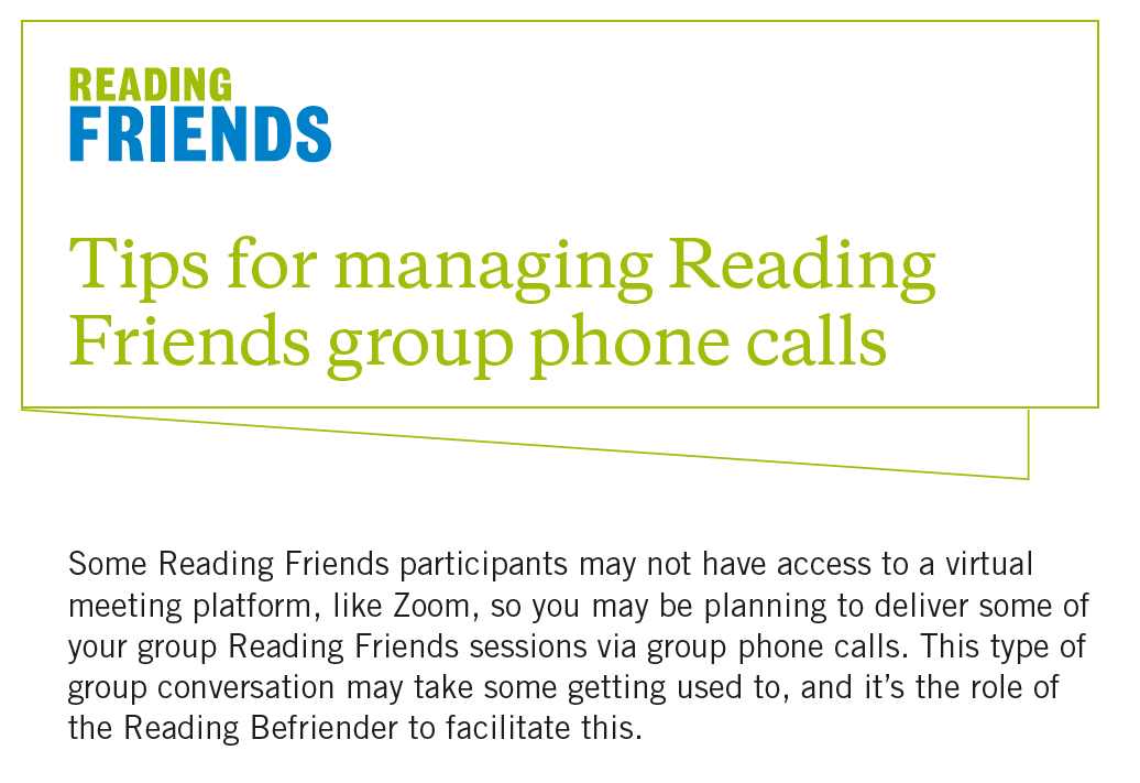 Reading Friends Tips for Managing Group Phone Calls